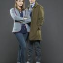 Elizabeth Henstridge and Iain De Caestecker as Agents Jemma Simmons and Leo Fitz