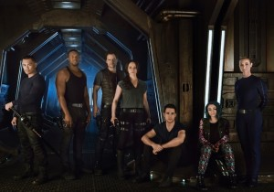 The cast of Dark Matter (Syfy)