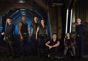 The cast of Dark Matter (Syfy)